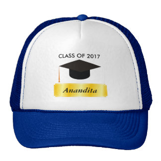 Gold Tag Graduation Cap