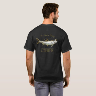Gold Tarpon, No Work Today T-Shirt