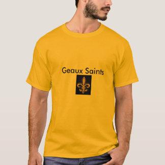 Gold tee Geaux Saints