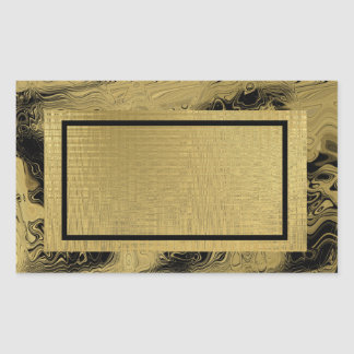 GOld Template Back Customize Rectangular Sticker