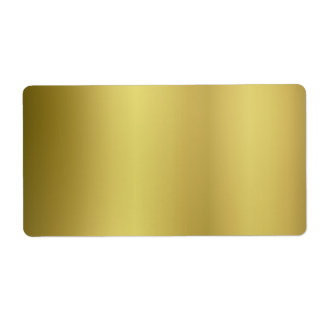 Gold Template Back Customize Shipping Label