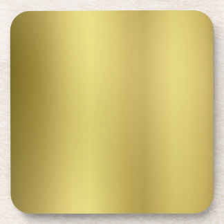 Gold Template Blank Drink Coaster