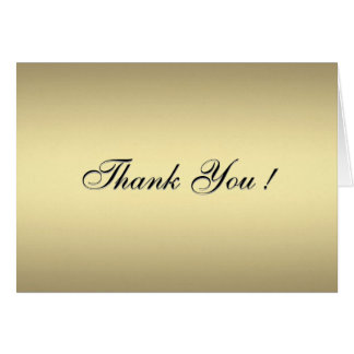 Gold Tennis Blank Thank You Cards
