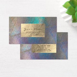 Gold Tiffany Ocean Tropic Foil Botanical Delicate Business Card