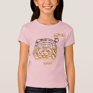 Gold Tiger - Girls Baby Doll (Fitted) T-Shirt