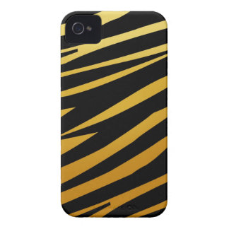 Gold Tiger Stripes Pattern iPhone 4 Case-Mate