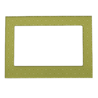 Gold Tinfoil Squiggly Squares Magnetic Picture Frame