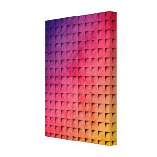 Gold To Purple Gradient Grid Canvas Prints