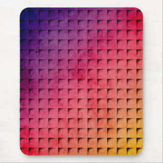 Gold To Purple Gradient Grid Mouse Pad