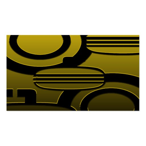 GOLD TONE CURLING BUSINESS CARD TEMPLATE