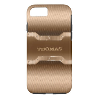 Gold Tones And Light Brown Brushed Metal Look iPhone 8/7 Case