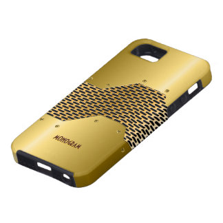 Gold Tones Shiny Metallic Look Pattern Customized iPhone 5 Covers