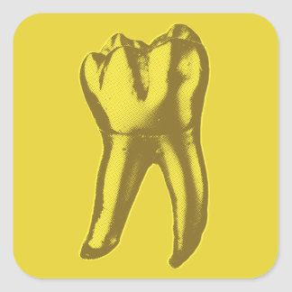 Gold Tooth Square Sticker