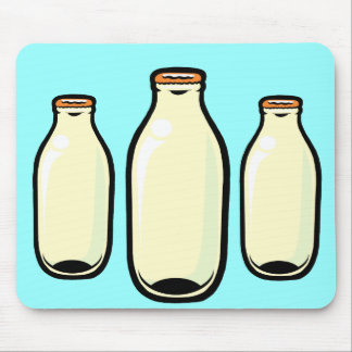 Gold top Milk Bottles Mouse Pad
