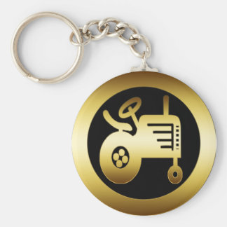 GOLD TRACTOR KEY RING