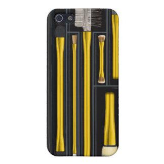 Gold, Travelling makeup brush set, design iPhone 5 Cover