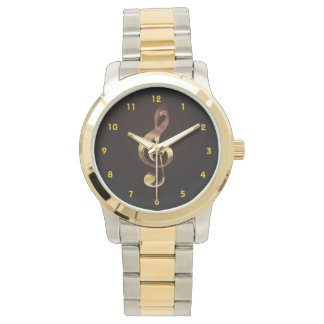 Gold Treble Clef Music Watch - Try Different Style
