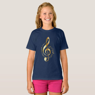 Gold Treble Clef T-Shirt