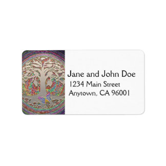 Gold Tree with Butterly Address Label