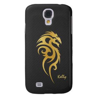 Gold Tribal Dragon Tattoo Samsung Galaxy S4 Covers
