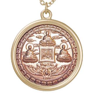 Gold Trikaya Buddha Miracle Talisman Gold Plated Necklace