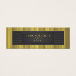 Gold trim and black stripes mini business card