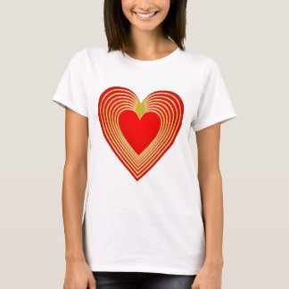 Gold trimmed heart T-Shirt