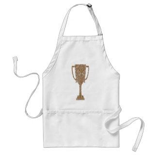 Gold TROPHY : Award Reward Celebration Standard Apron