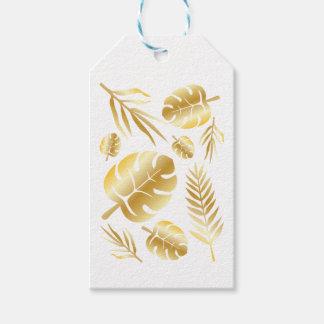 Gold tropical leaves elegant modern pattern design