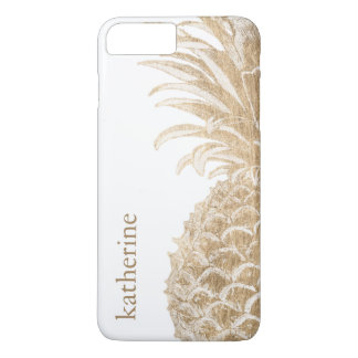 Gold Tropical Pinneapple iPhone 8 Plus/7 Plus Case