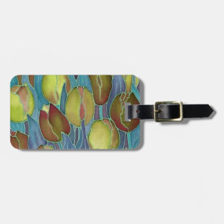 Gold Tulips Luggage Tags