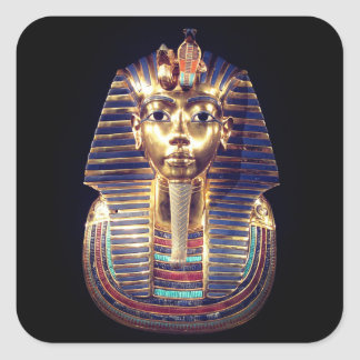 Gold Tutankhamun Pharaoh Death Mask Sticker