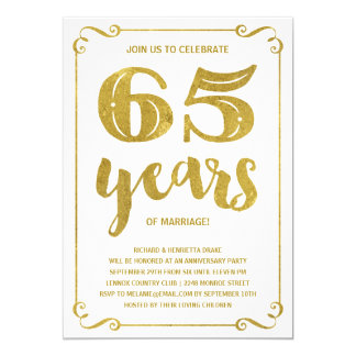 65th wedding anniversary invitations announcements. Black Bedroom Furniture Sets. Home Design Ideas