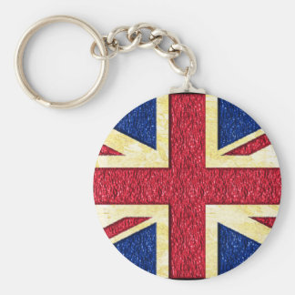 Gold uk flag - Key Chain