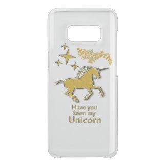 Gold unicorn pony horse with Golden stars Uncommon Samsung Galaxy S8 Case