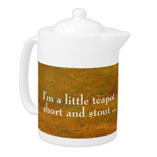 """Gold Uplift"" Medium Teapot"