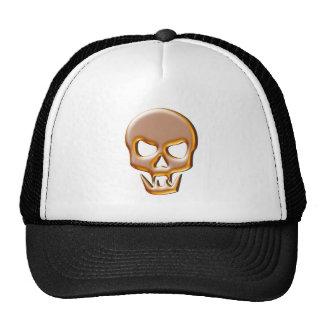 Gold Vampire Skull Mesh Hat