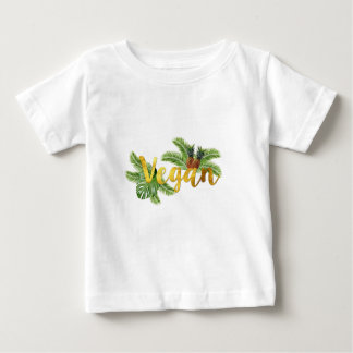 Gold Vegan with Pineapples Baby T-Shirt