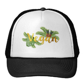 Gold Vegan with Pineapples Cap