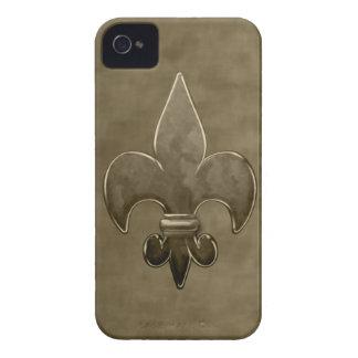 Gold Velvet Saints Fleur De Lis iPhone 4 Case-Mate Cases