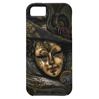 Gold Venetian carnival mask with blue hat Tough iPhone 5 Case