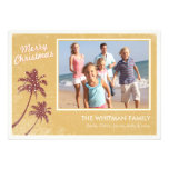 Gold Vintage Beach Photo Christmas Cards Personalised Announcement