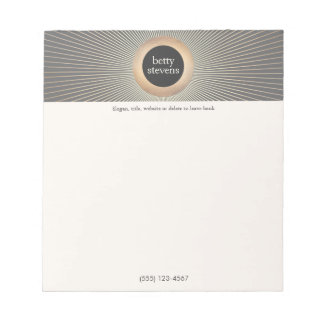 Gold Vintage Glamorous Beauty Black and W Notepad
