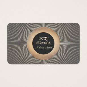 Art deco business cards business card printing zazzle gold vintage makeup artist glamourous chic black business card colourmoves