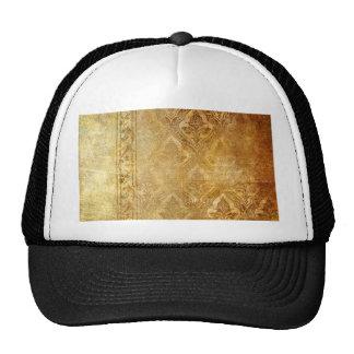 gold,vintage,rustic,worn,damask,pattern,floral,chi cap