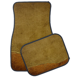 Gold Vintage Texture Two Tone luxury rich car mat