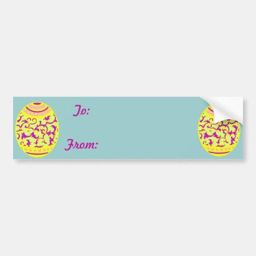 Gold & Violet Easter Egg Bumper Stickers
