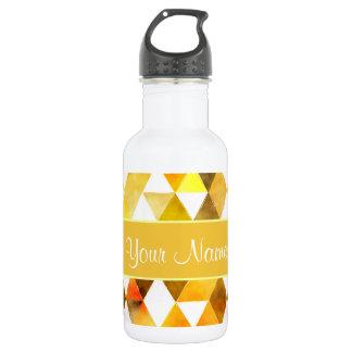 Gold Watercolor Geometric Triangles 532 Ml Water Bottle