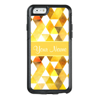 Gold Watercolor Geometric Triangles OtterBox iPhone 6/6s Case