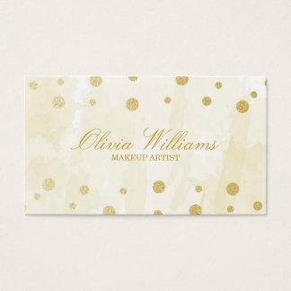 Gold Watercolor & Glitter Business Card